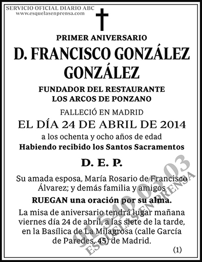 Francisco González González